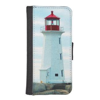 Alter Leuchtturm, blauer Ozean, See, nautisch iPhone SE/5/5s Geldbeutel Hülle