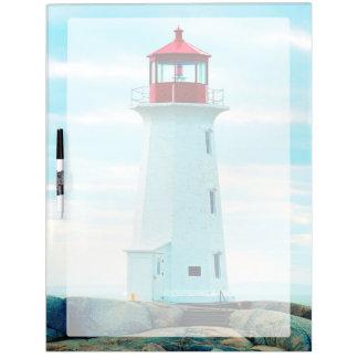 Alter Leuchtturm, blauer Ozean, See, nautisch Memoboard