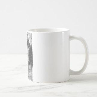 Alter Mann-Holzkohlen-Zeichnen Kaffeetasse