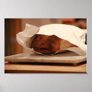 Alter Mann-italienisches Brot Poster