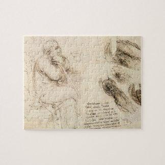 Alter Mann-und Wasser-Skizze durch Leonardo da Puzzle