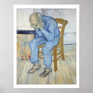 Alter Mann Vincent van Goghs | in der Sorge Poster