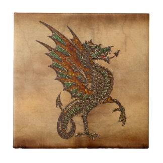 Alter mittelalterlicher Drache-Entwurf YE Keramikfliese