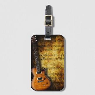 Alter Musik-Blatt-Gitarren-Gepäckanhänger Kofferanhänger