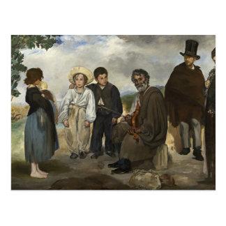 Alter Musiker Edouard Manet Postkarte