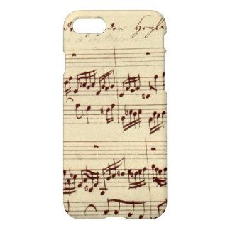 Alter Musiknoten - Bach Musik-Blatt iPhone 7 Hülle