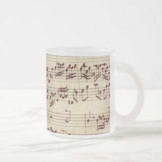 Alter Musiknoten - Bach Musik-Blatt Mattglastasse
