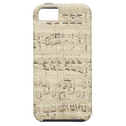 Alter Musiknoten - Chopin-Musik-Blatt