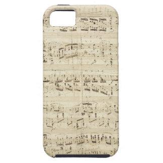 Alter Musiknoten - Chopin-Musik-Blatt iPhone 5 Schutzhülle