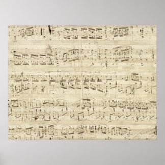 Alter Musiknoten - Chopin-Musik-Blatt Posterdruck