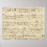 Alter Musiknoten - Chopin-Musik-Blatt Poster