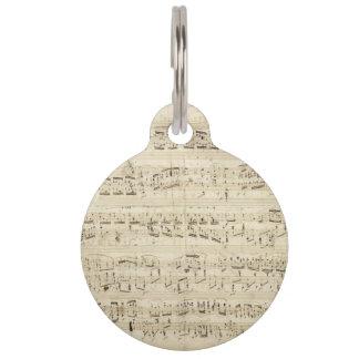 Alter Musiknoten - Chopin-Musik-Blatt Tiermarke