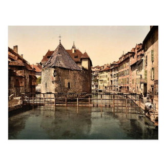 Alter Palast und Kanal, Klassiker Annecys, Postkarte