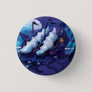 Alter Pirat Sailship angekoppelt Runder Button 2,5 Cm