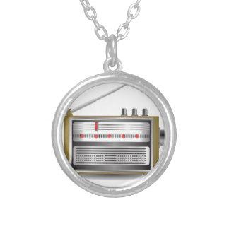 alter Radio Versilberte Kette