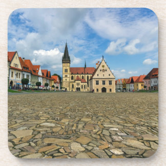 Alter Rathausplatz in Bardejov, Slowakei Getränkeuntersetzer
