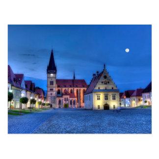 Alter Rathausplatz in Bardejov, Slowakei, HDR Postkarte