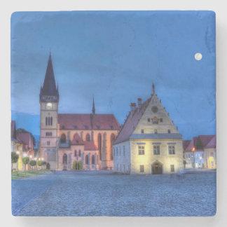 Alter Rathausplatz in Bardejov, Slowakei, HDR Steinuntersetzer