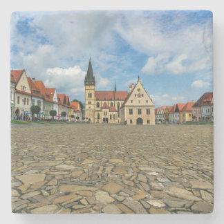 Alter Rathausplatz in Bardejov, Slowakei Steinuntersetzer
