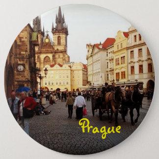 Alter Rathausplatz - Prag, Tschechische Republik Runder Button 15,3 Cm