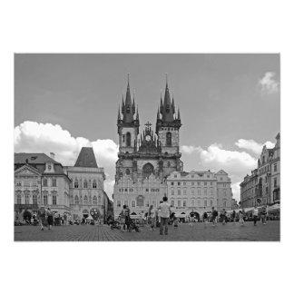 Alter Rathausplatz und Kirche unserer Dame Fotodruck