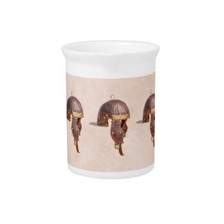 Alter römischer Militärsturzhelm Getränke Pitcher