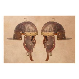 Alter römischer Militärsturzhelm Holzdruck