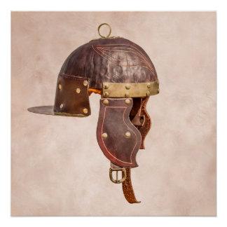 Alter römischer Militärsturzhelm Poster
