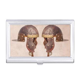 Alter römischer Militärsturzhelm Visitenkarten Etui
