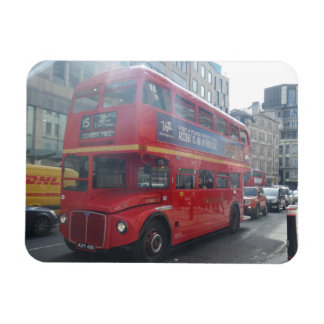 "Alter roter Stadt-Bus London 3"""" Magnet x4"