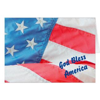 Alter Ruhm-Gott segnen Amerika Karte