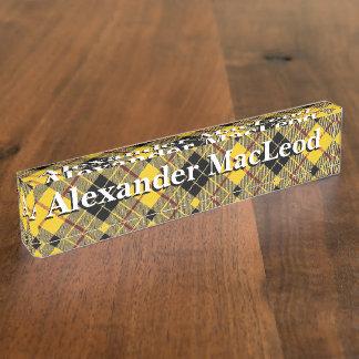 Alter Schotte-Clan MacLeod von LewisTartan Namensplakette