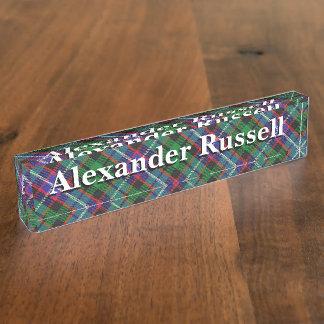 Alter Schotte-Clan-RussellTartan Schreibtischplakette