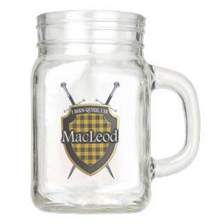 Alter Schottland-Clan MacLeod Tartan kariert Einmachglas