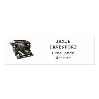 Alter Schreibmaschinen-Verfasser-Journalist-Autor Mini-Visitenkarten