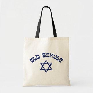 Alter Schule jüdischer Stern-Judentums-alte Tragetasche