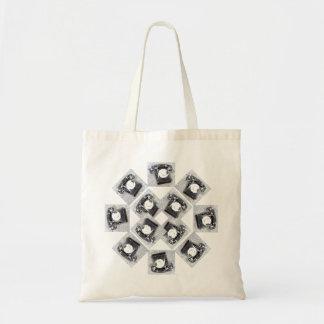 Alter Skala-Telefon-Entwurf auf Taschen-Tasche Tragetasche