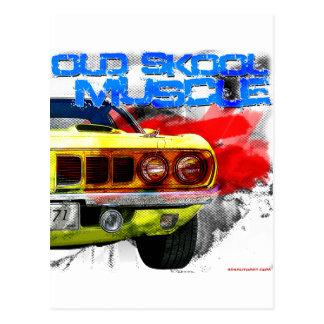"""""""Alter Skool Muskel 1971 """" Plymouths Cuda Postkarte"""