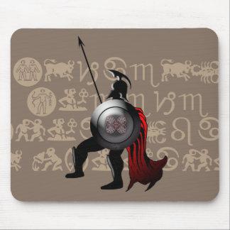 Alter spartanischer Krieger Mousepad