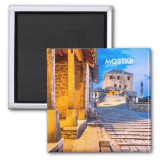 Alter Stadtmagnet Mostars, Bosnien Quadratischer Magnet