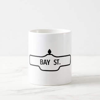 Alter Toronto-Straßenschild - Bucht-Straße Kaffeetasse