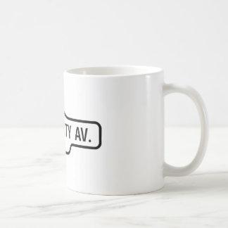 Alter Toronto-Straßenschild - Hochschulallee Kaffeetasse