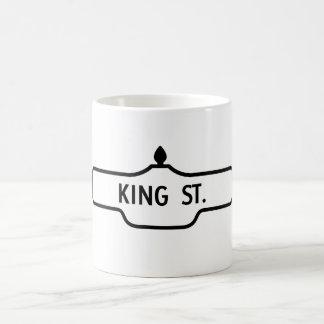 Alter Toronto-Straßenschild - König Street Kaffeetasse