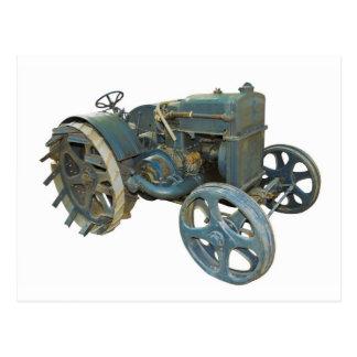 alter Traktor Postkarte