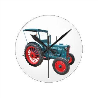 Alter Traktor Runde Wanduhr