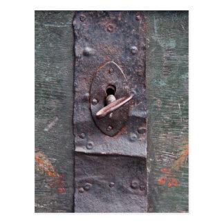 Alter Verschluss mit Schlüssel Postkarte