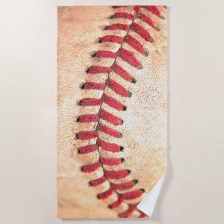 Alter Vintager Baseball-Ball-rotes Nähen Strandtuch