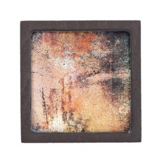 alter Vintager rostiger brauner Kunstbrand-Rauch a Kiste