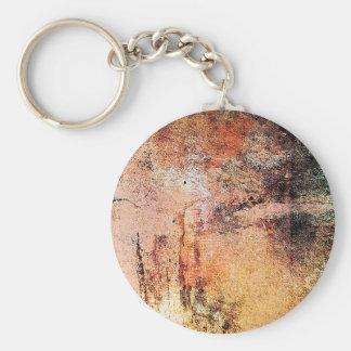 alter Vintager rostiger brauner Kunstbrand-Rauch a Schlüsselanhänger