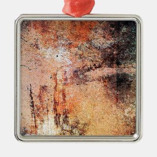 alter Vintager rostiger brauner Kunstbrand-Rauch Silbernes Ornament